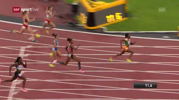 Video «Der 200-m-Vorlauf von Sarah Atcho» abspielen
