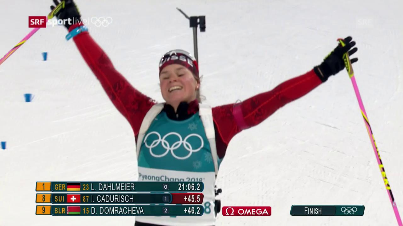 Cadurisch holt im Biathlon-Sprint ein Diplom