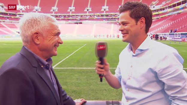 Video «Die Nati vor dem WM-Start: Interview mit Hanspeter Latour» abspielen