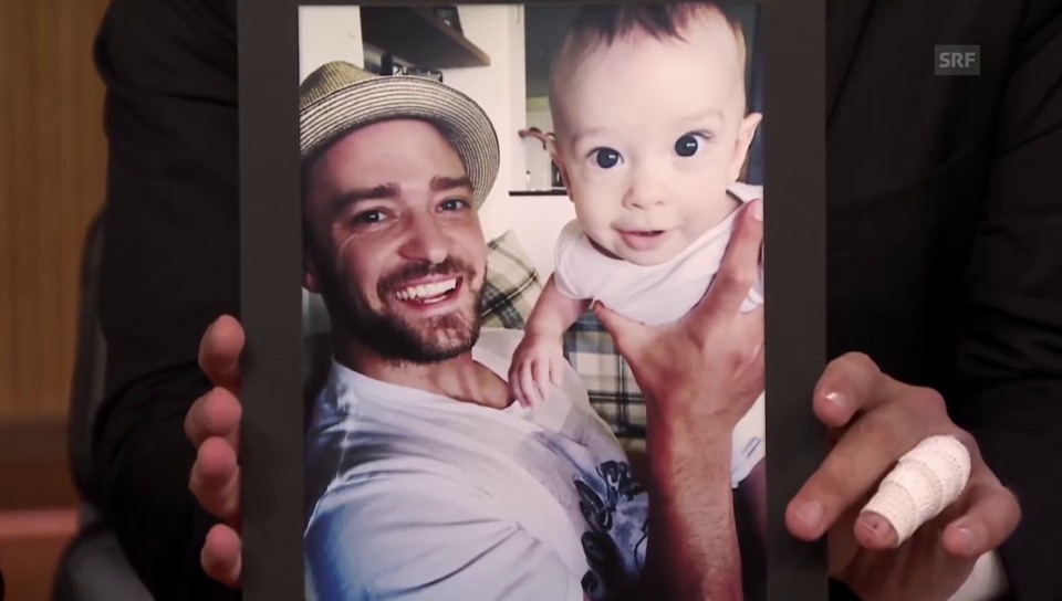 Timberlake zeigt Jimmy Fallon sein Baby