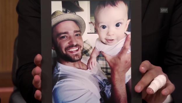 Video «Timberlake zeigt Jimmy Fallon sein Baby» abspielen
