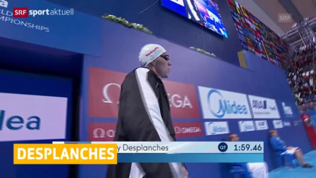 Video «Schwimmen: WM 2015, Desplanches schwimmt Schweizer Rekord» abspielen