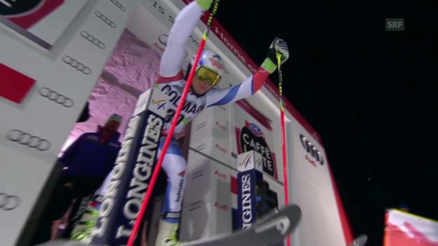 Video «Ski: Riesenslalom Are, 2. Lauf Caviezel» abspielen