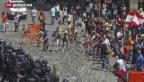 Video «Demonstrationen wegen Abfallbergen» abspielen