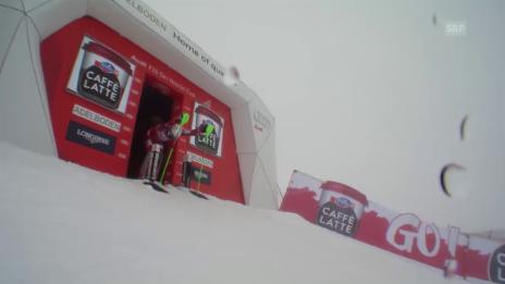 Video «Kristoffersen zaubert in Adelboden einen fulminanten 2. Lauf in den Schnee» abspielen