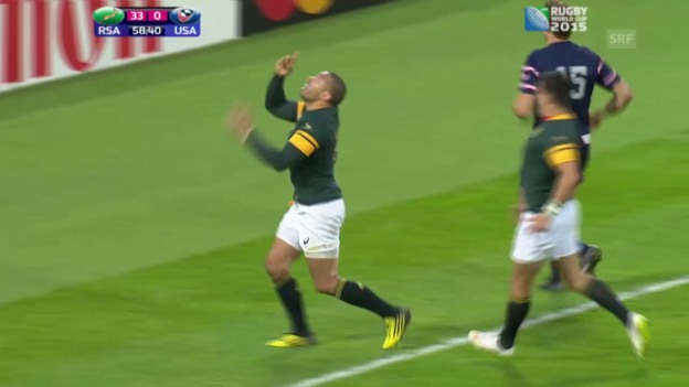 Video «Rugby: WM in England, Highlights Südafrika - USA (SNTV)» abspielen