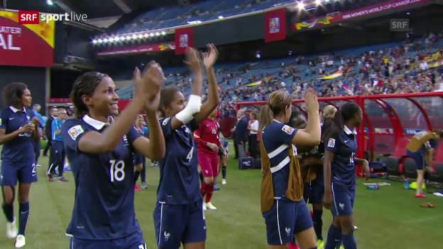 Video «Fussball: Frauen-WM 2015 in Kanada, Achtelfinal, Frankreich - Südkorea» abspielen