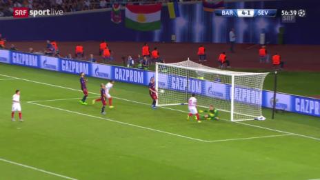 Video «Fussball: Supercup, Barcelona - Sevilla, 4:2» abspielen