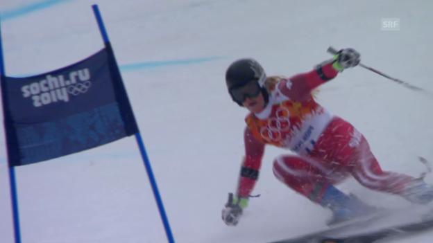 Video «Ski: Riesenslalom Frauen, 2. Lauf Gut (sotschi direkt, 18.2.2014)» abspielen