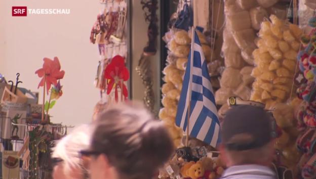 Video «In Griechenland läuft der Tourismus» abspielen
