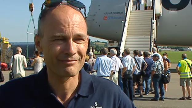 Video «Bertrand Piccard zur Rückkehr von «Solar Impulse»» abspielen