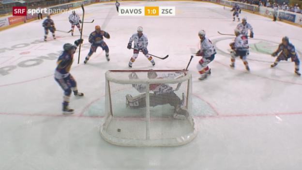 Video «Eishockey: NLA, Davos - ZSC» abspielen