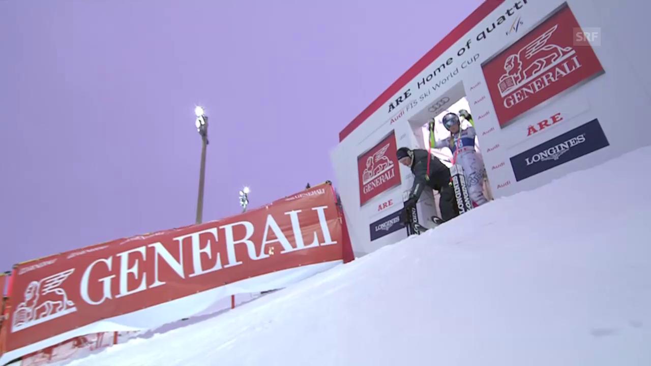 Ski alpin: Riesenslalom in Are, 2. Lauf von Vonn