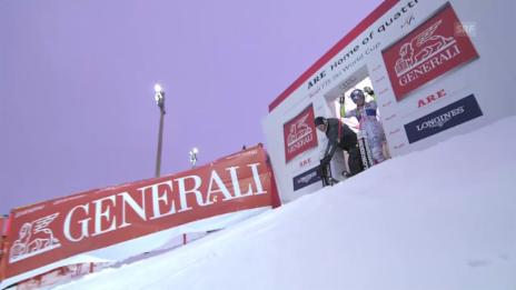 Video «Ski alpin: Riesenslalom in Are, 2. Lauf von Vonn» abspielen