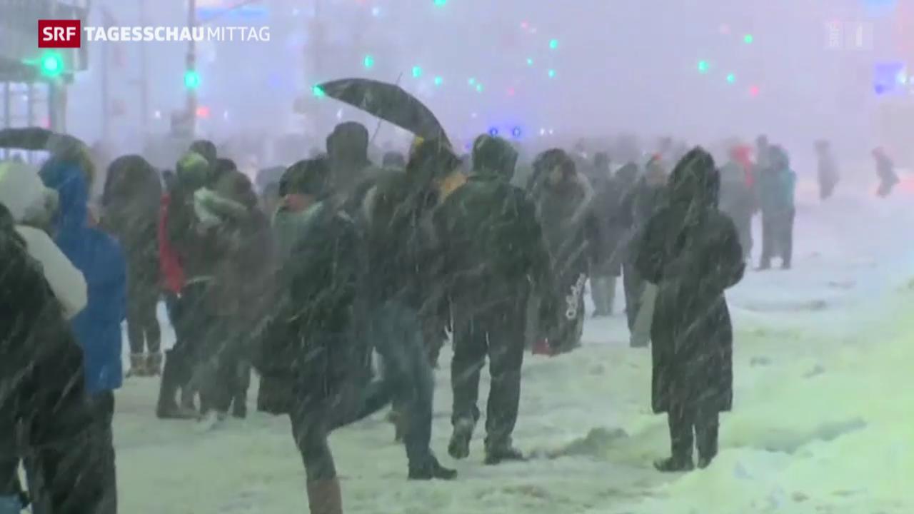 Schneesturm in den USA