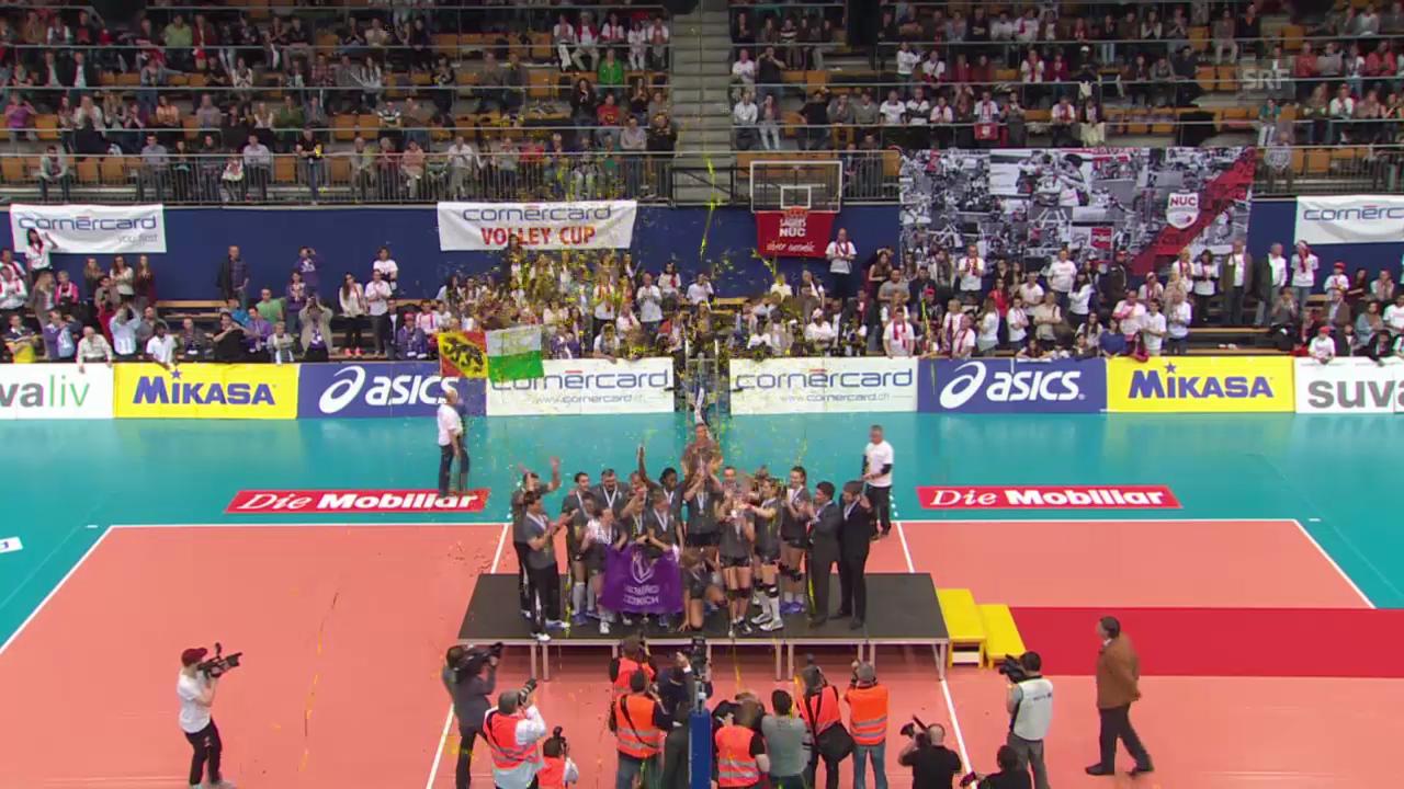Volleyball: Zusammenfassung Cupfinal Volero - Neuchâtel