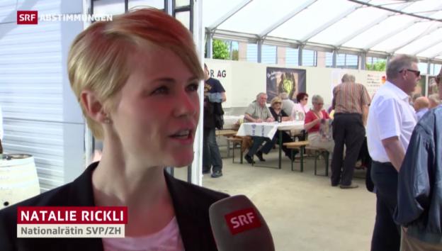 Video «Natalie Rickli (SVP): Umsetzung der Initiative ist kein Problem» abspielen