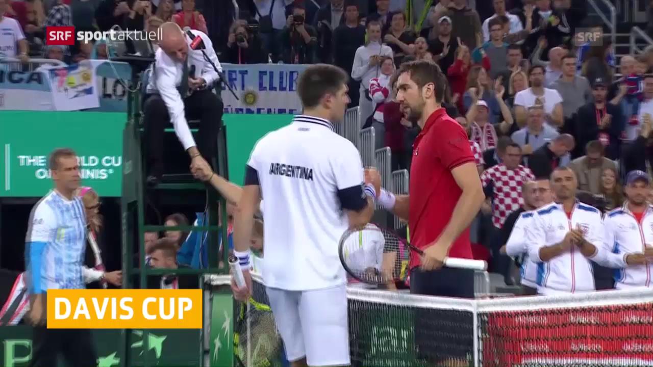 Davis-Cup Tag 1 endet Remis