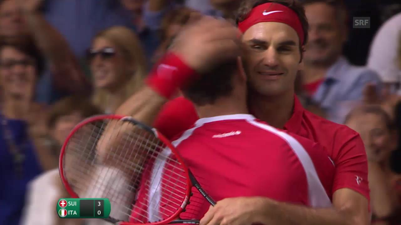 Tennis: Wichtigste Punkte Federer - Fognini