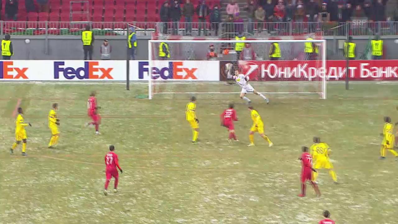 Fussball: Europa League, Rubin Kasan – FC Sion, 1:0 für Rubin Kasan
