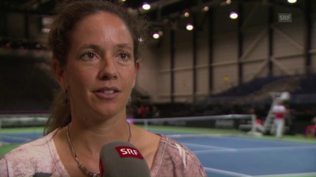 Video «Patty Schnyder schwebt vor dem Fed-Cup-Halbfinal in Erinnerungen» abspielen