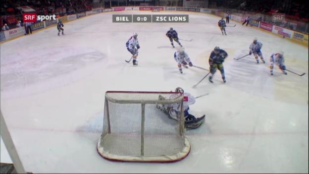 Video «EHC Biel - ZSC Lions «sportaktuell»» abspielen