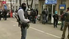Video «Pro-russische Aktivisten besetzten Polizeizentrale» abspielen