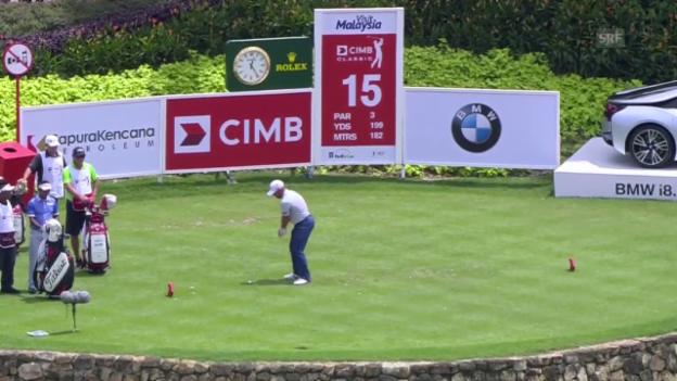 Video «Golf: Hole-in-One von Scott Brown in Kuala Lumpur» abspielen