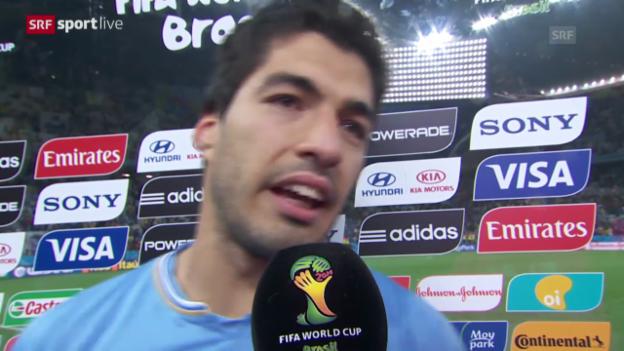 Video «Interview mit Luis Suarez» abspielen
