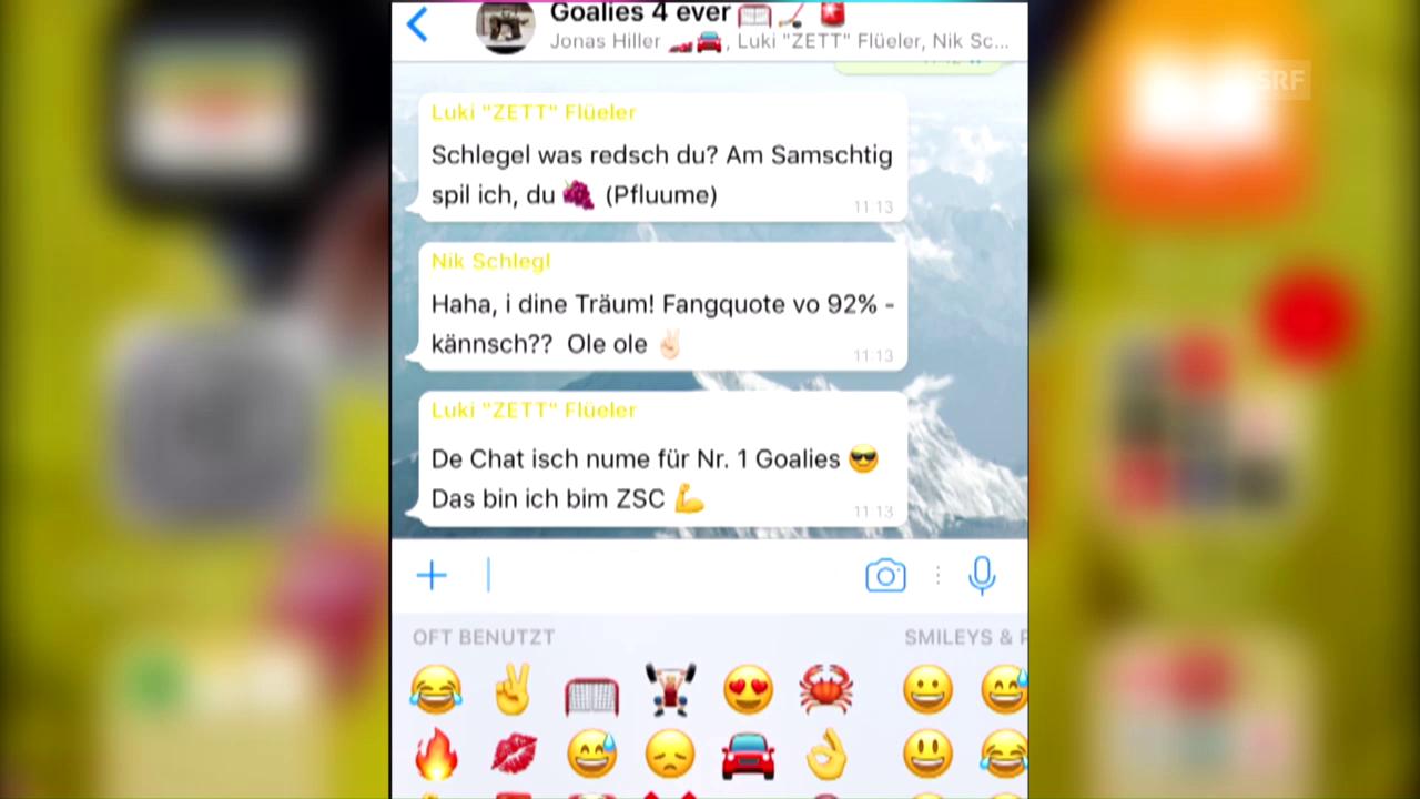 Der fiktive WhatsApp-Chat der NLA-Goalies