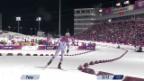 Video «Biathlon: Verfolgung Männer, Schlussphase (sotschi direkt, 10.02.2014)» abspielen