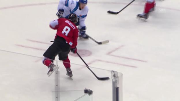 Video «Eishockey: Finnland - Kanada, Tore (sotschi direkt, 16.02.2014)» abspielen
