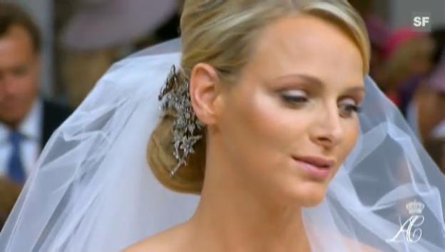 Video «Nach dem Kuss in Monaco: eine traurige Charlene» abspielen
