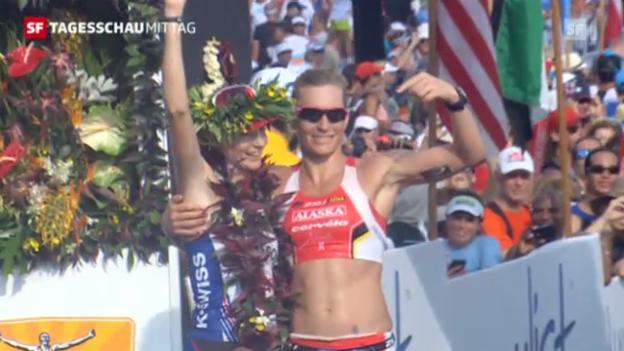 Video «Caroline Steffen erreicht zweiten Platz» abspielen