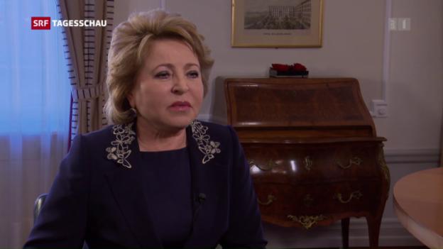 Video «Kritik am Besuch der russischen Senatspräsidentin in der Schweiz» abspielen