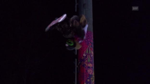 Video «Snowboard-Halfpipe: 2. Final-Run von Taku Hiraoka (sotschi direkt, 11.02.2014)» abspielen