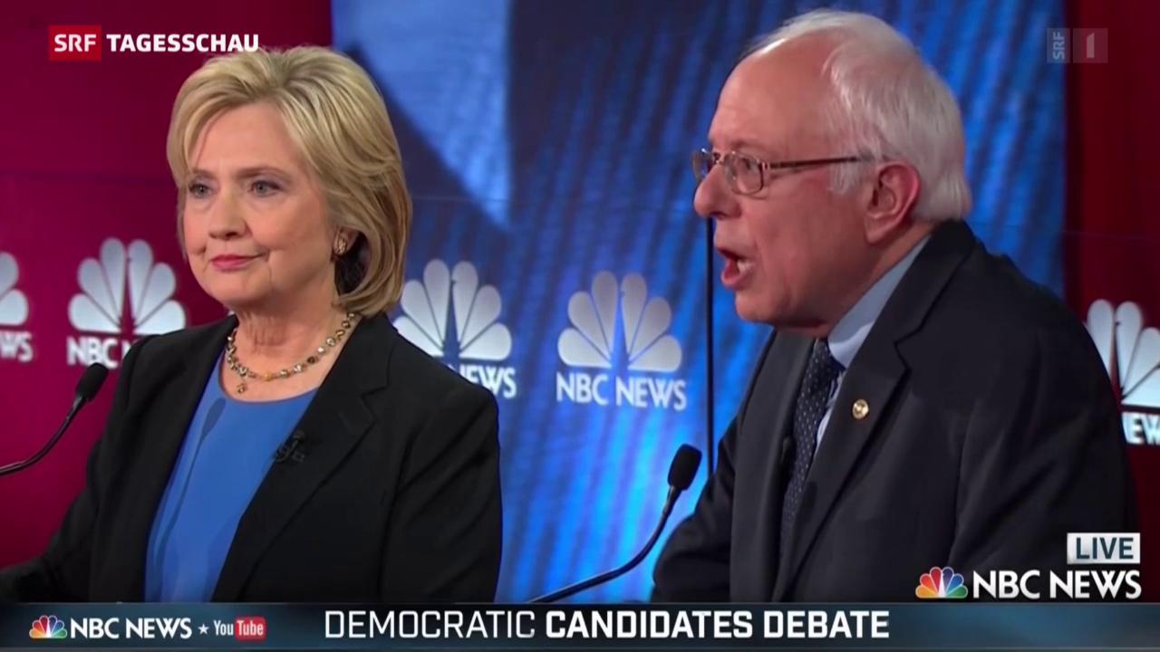 Hillary Clinton hart bedrängt