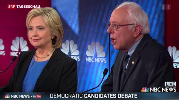 Video «Hillary Clinton hart bedrängt» abspielen