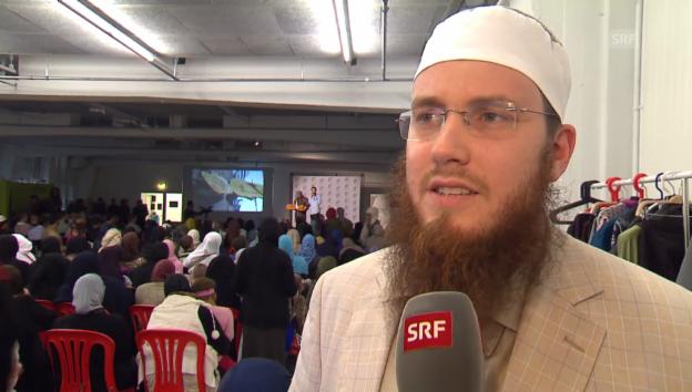 Video «Radikale Islamisten: IZRS-Präsident kanzelt Reporter ab» abspielen