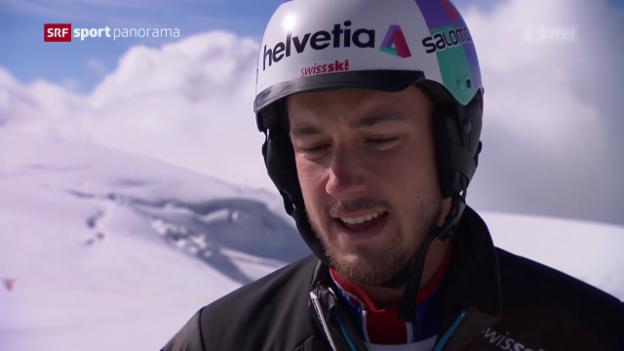 Video «Luca Aerni bereitet sich auf die Ski-Saison vor» abspielen