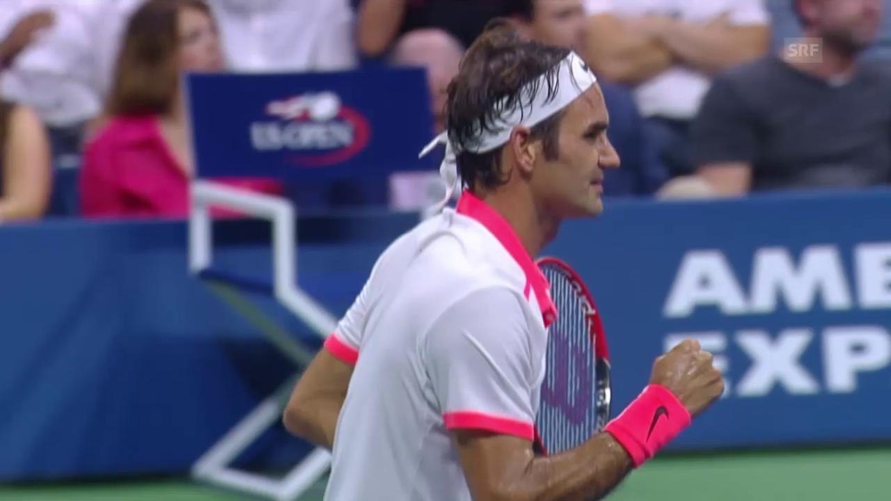 Tennis: Federers brillante Vorstellung gegen Gasquet