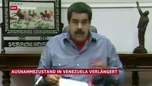 Video «Zugespitzte Lage in Venezuela» abspielen