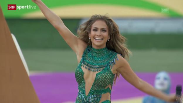 Video «WM-Song-Performance J.Lo, Pitbull und Claudia Leitte» abspielen