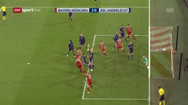 Video «Ohne Probleme, ohne Glanz: Bayern schlägt Anderlecht» abspielen