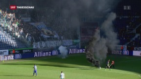 Video «Fussball-Fan wegen Knall-Petarden angeklagt» abspielen