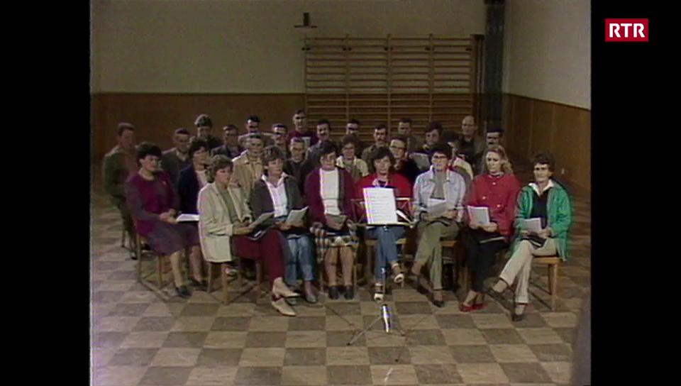Il chor mischedau da Vrin e la festa 1984 a Laax