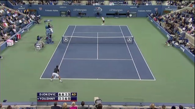 Video «Djokovic - Juschni: Matchball (unkommentiert)» abspielen