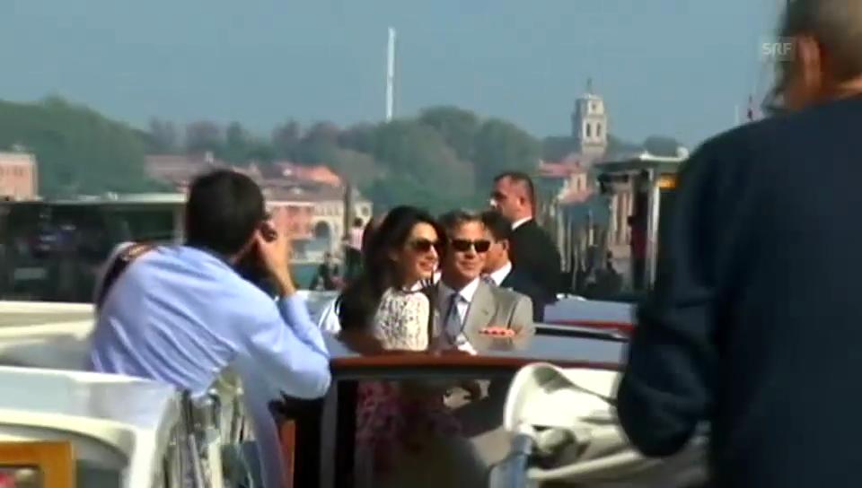 Der erste Auftritt nach der Hochzeit vom Ehepaar Clooney