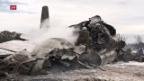 Video «Nachricht Flugzeugunglück Algerien» abspielen