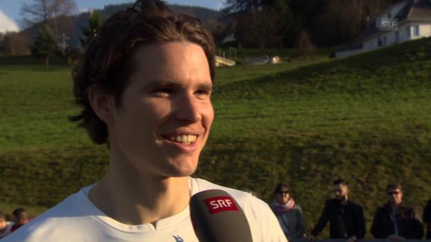Video «Fussball: EM-Quali, Schweiz - Estland, Marwin Hitz über Ragnar Klavan» abspielen